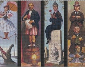 Large Size Disney Haunted Mansion Portraits Cross Stitch Pattern PDF (Pattern Only)