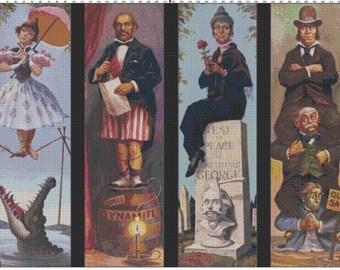 Large Size Disney Haunted Mansion Portraits Cross Stitch Pattern PDF (Pattern Only)