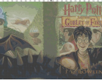 Small Size Harry Potter and the Goblet of Fire Book Cover Cross Stitch Pattern PDF (Pattern Only)