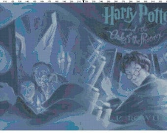 Small Size Harry Potter and the Order of the Phoenix Book Cover Cross Stitch Pattern PDF (Pattern Only)