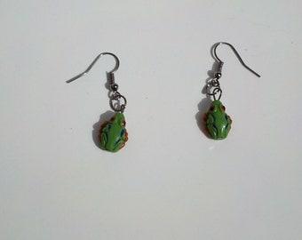 Tree Frog Earrings