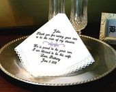 MAN of my dreams - PROUD to be your SON - Wedding gift for Mother of Groom - Hanky - Hankie - Wedding Accessories