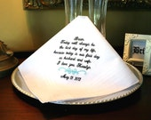 Groom Handkerchief -Hankie - Hanky - Best day of my life - First day as HUSBAND and WIFE - Gift for Groom from Bride -Bridal Weddings