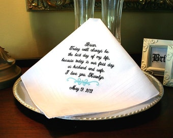 Groom Gift Wedding For From Bride Hankerchief