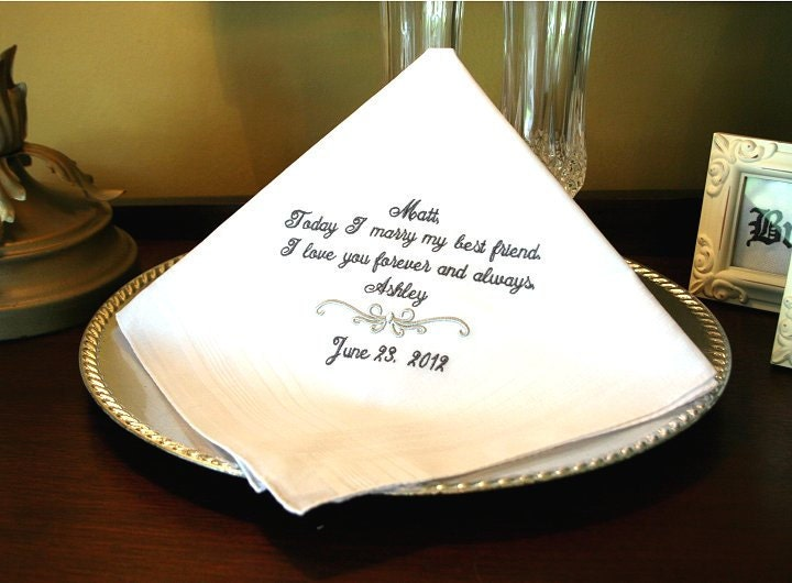 Wedding Gifts For A Friend: Wedding Gift Groom Hankerchief Mr And Mrs Weddings
