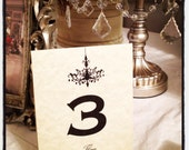 Table Numbers - ( 1 - 8 ) - French Market - xo, j&L (TBL 003)