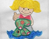 MERMAID Under the Sea Applique and Embroidered Quilt Block by Amy