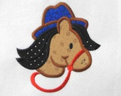 COWBOY Horse Applique and Embroidered Quilt Block by Amy