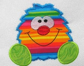 SILLY MONSTER Applique and Embroidered Quilt Block by Amy