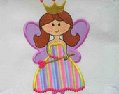 PRINCESS  Fairy Applique and Embroidered Quilt Block by Amy