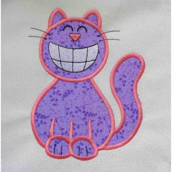 CRAZY CAT Applique and Embroidered Quilt Block by Amy