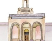 Newport Beach LDS Mormon Temple Print, 8x10