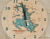 2D Wood Lake Art Clock - Your Choice of Lake