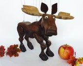 Authentic Canadian Moose Marionette (with strings)