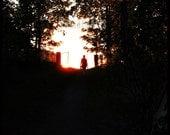 Sunset Photo. Summer Photo. Flash. Midnight sun...