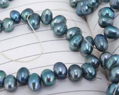 One Full Strand--- Blue Dancing Pure Freshwater Pearl----6-7mm----over 70 Pieces----14.5 inch One strand
