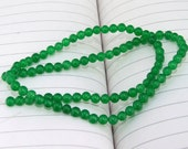 "strand Round Green Jade Beads ----- 4mm ----- about 90Pieces ----- gemstone beads--- 15"" in length"