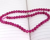 "strand Round Faceted  Jade Beads ----- 8mm  ----- about 48Pieces ----- gemstone beads--- 15"" in length"
