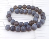 One Full Strand--- Round Candy Grey Agate Gemstone Beads----12mm ----about 32Pieces----15inch strand
