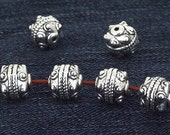 10Beads Charm Ball Antique Silver Victorian Beads ----- 10mm ----- 10Pieces 2AD
