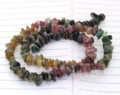 "strand Chip tourmalin Beads ----- 4mmx7mm ----- about 100Pieces ----- gemstone beads--- 16"" in length"