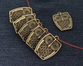 5Beads Charm owl bronze Plated Victorian Pendants Beads ----- 18mmx26mm -----5Pieces 2G