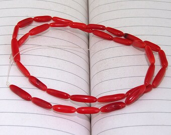 """Red Coral Beads----3mm-12mm ---- gemstone beads--- 16"""" in length"""