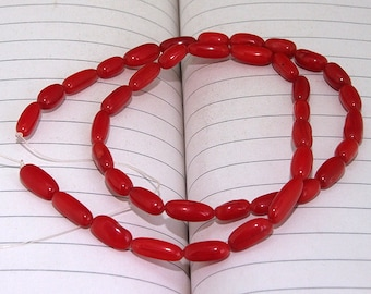 "Red Coral Beads----3mm-7mm ---- gemstone beads--- 16"" in length"