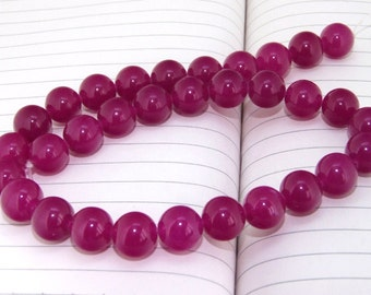 """strand Round Jade Beads ----- 12mm ----- about 32Pieces ----- gemstone beads--- 15"""" in length"""