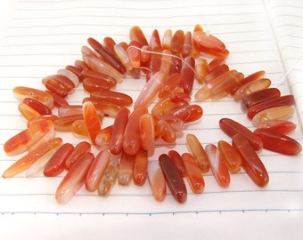 "Long Strand Branch Red Agate Beads ----- 15mmx20mm ----- about 80Pieces ----- gemstone beads--- 16"" in length"