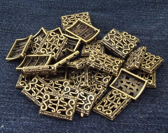 20Beads bronze Plated Victorian Connector Link Beads ----- 12mmx17mm ----- 20Pieces 2AD