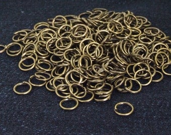 100Beads Charm Jump Rings  Antique Brass bronze Plated Victorian Connector Beads ----- 6mm ----- 100Pieces 2C