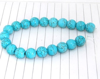 One Strand--- Round Turquoise Gemstone Beads ----10mm----20 Pieces