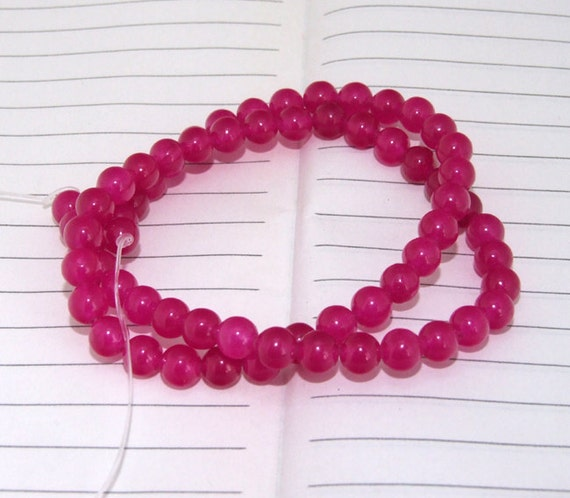 """strand Round Jade Beads----6mm ---- 60Pieces ---- gemstone beads--- 15"""" in length"""