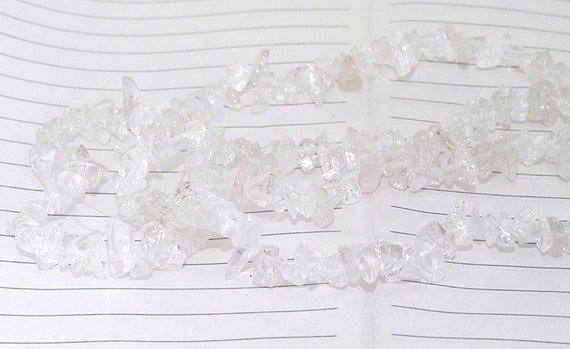 "Long strand Nugget Chip clear Crystal Quartz Gemstone Beads ----- 4mmx 6mm ----- about 180Pieces ----- gemstone beads--- 34"" in length"
