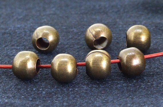 40 pcs of charm antique bronze  plated  Balls beads metal findings Beads ----- 7mmx 8mm ----- 40Pieces 2C
