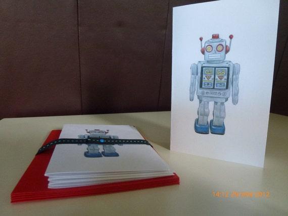 Mr. Roboto blank handmade cards