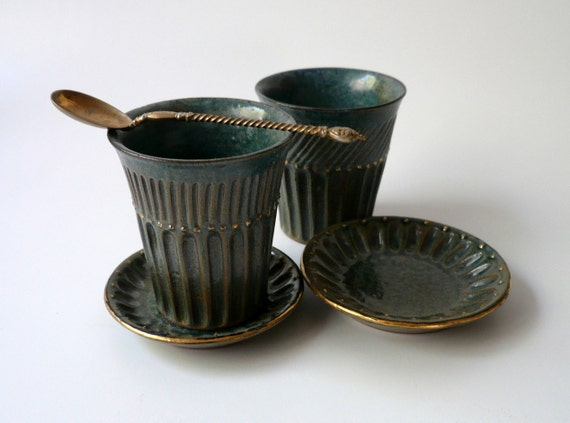 A Cup & Saucer with Sparks of Gold