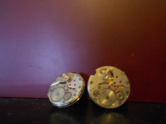 Steampunk Earrings - Round Watch Movements