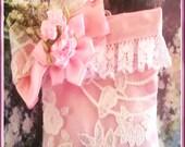 Victorian, shabby chic pink sachet