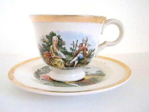 Vintage, Wahington D.C. Cup and Saucer with 22 k. Gold Trim
