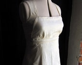 "Dress ""Emilia"", white, creme, 100% raw silk, linon, customized"
