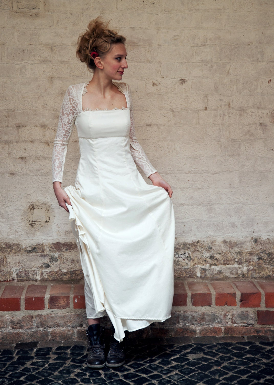 Wedding dress myrrha 100 organic cotton silk tull by for Organic cotton wedding dress