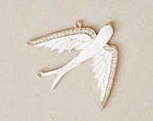 9 Elegant Large Swallow Bird Pendants Gold Rhinestone for necklaces