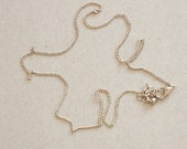 """6 Silver 16"""" Vintage Brass Gold for Necklaces Lot 2"""