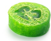 All Natural Cucumber Melon Loofah Soap Bar