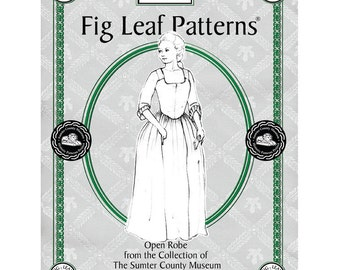 Fig Leaf Patterns 101 Gown c1771-1785,  sizes 08 to 18