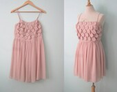SALE Petal Pusher- pink chiffon mini dress