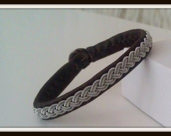 Lapland Sami Bracelet, Reindeer leather