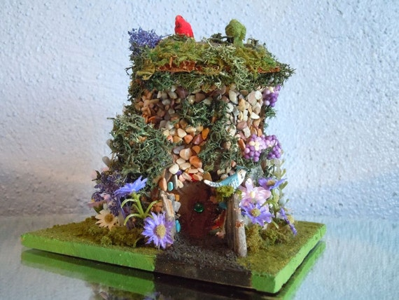 Fairy House/Cottage - woodland - one of a kind - artist signed